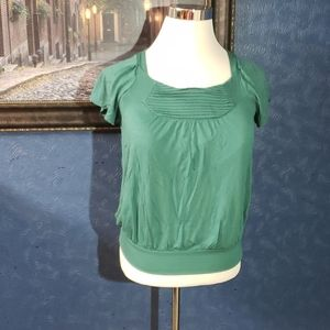 The Limited Medium Teal Bubble Shirt Blouse Top